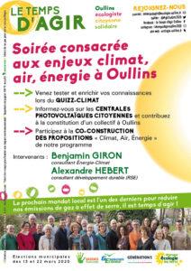 Tract p2 sur le climat de la liste Le Temps d'Agir pour Oullins avec Jean-Charles Kohlhaas